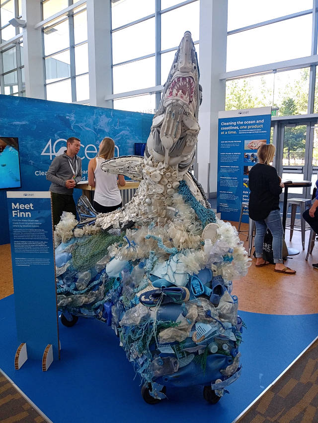 Shark Made Of Plastic Garbage From The Ocean