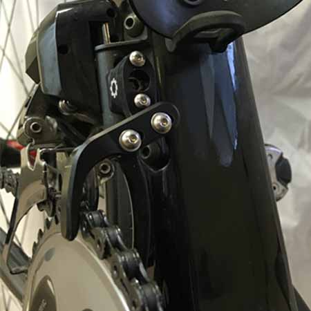 Dual Sided Chain Catcher on a Lotto-Jumbo Bike
