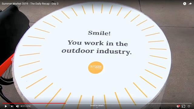 Smile, We Work In The Outdoor Industry!