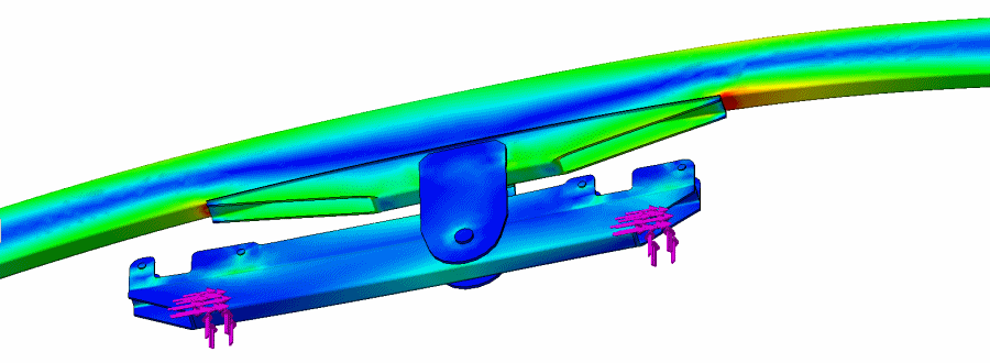 Initial Result Of Suspension Engineering Analysis Of The Walking Beam