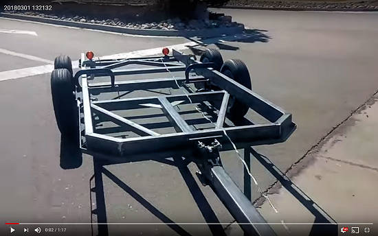 Utility Trailer Frame Test Run