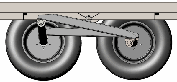 Axles Skew As The Walking Beam Articulates Different Left And Right