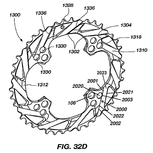 Bicycle Chainring Patent Image