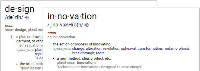 Definitions of Design & Innovation
