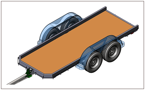 3D CAD Experimental Trailer Design