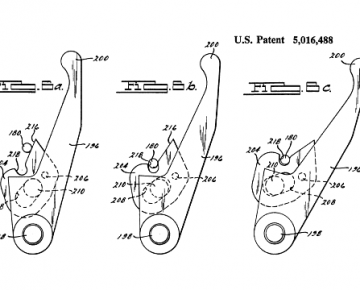 Camming Lever Action Patent