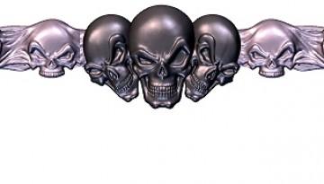 Morphed Skulls Design Example