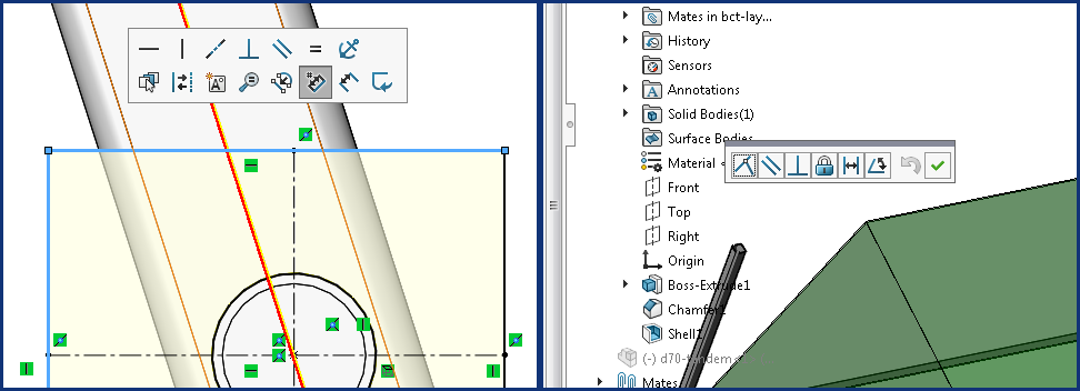 SolidWorks Review: Pop-up Menus