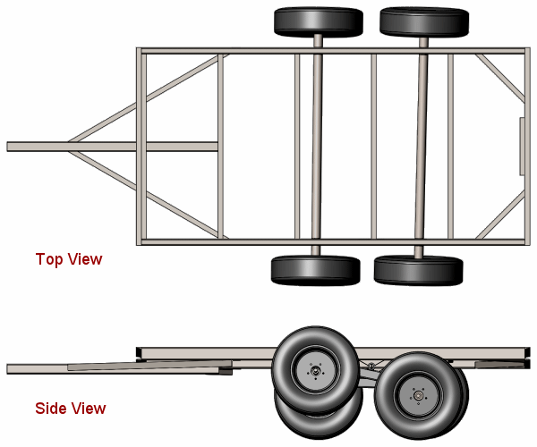 Axle Motion Top and Side Views