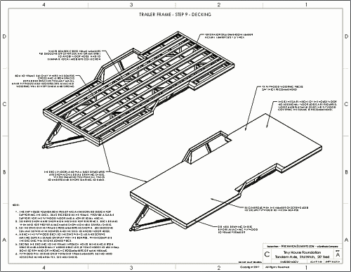 Tiny House Trailer Plans Drawings